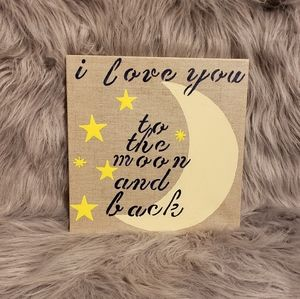 I love you to the moon and back wall decor